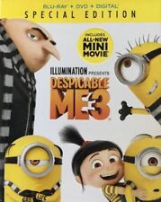 DESPICABLE ME 3 SPECIAL EDITION NEW BLU-RAY +DVD +DIGITAL BONUS FEATURES FREE SP