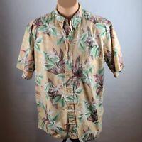 Reyn Spooner Mens Hawaiian Floral Button Down Short Sleeve Shirt Size XL