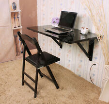 SoBuy® Large Folding Wall-mounted Drop-leaf Table Desk, 100x60cm, FWT06-SCH, UK