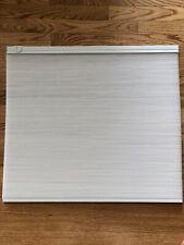 Pella Blinds - Inbetween the Glass White Linen Blinds for Sliding Glass Doors.