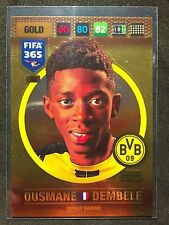 2016-17 Panini Adrenalyn FIFA 365 Ousmane Dembele Impact Signing rookie card