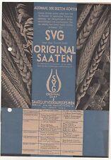 Prospekt SVG original semillas semillas de cereales agricultor Bauer para 1930! (d2