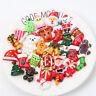 20 Stk Harz Gemischt Weihnachten Geschenke Slime Charm Cabochons Für DIY-Schmuck