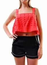 Free People Women's Authentic New By My Side Tank Top Pink RRP £60 BCF66