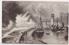 Scarborough, East Pier & Lighthouse Art Postcard, B526