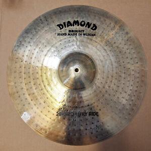 "DIAMOND 20"" Medium-Heavy Bright Ride Cymbal - Hand Made In Wuhan 012-102-105"