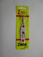 Z-Ray 5/8 OZ White with Red Spots Angeln Lure