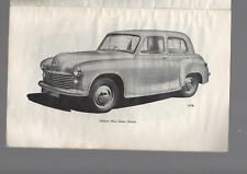 HILLMAN MINX Owner's Manual Mark IV  1957 illustrated