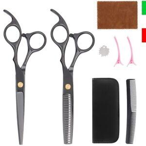 Set Forbici da Parrucchiere Barbiere Professionali per Taglio Capelli Sfoltire