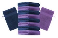 "10er Pack Waschhandschuhe ""Premium"" Farbe: Lila & Dunkelblau, Größe: 17x21 cm"
