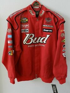 """Dale Earnhardt Sr. NEW Chase Authentic """"Drivers Line"""" Budweiser NASCAR Jacket XL"""
