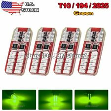 4x Green Canbus T10 24-SMD 3014 LED License Plate Light Bulb W5W 168 194
