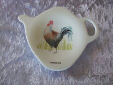 ASHDENE - TEA BAG HOLDER/TEASPOON REST - COUNTRY CHICKENS COLLECTION - ROOSTER