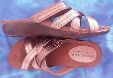 MONTANA ARTISAN-CRAFTED LEATHER SANDAL  Vintage Gold - Women's Sz 6.5 Slip-Ons