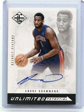 2012-13 LIMITED #19 ANDRE DRUMMOND AUTOGRAPH ROOKIE CARD RC #194/199, PISTONS