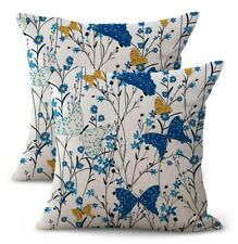 Us Seller - set of 2 pillow cases decorative butterfly floral cushion cover