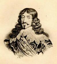 Antique Art print  Portrait  Louis XIII Photogravure from painting in the Louvre