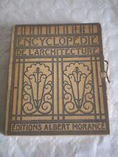 Encyclopédie De L'Architecture albert morance Vol 1 construction modern art deco