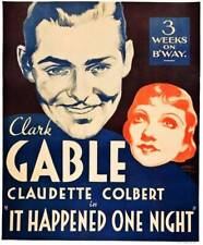 Old Movie Photo It Happened One Night Poster Lr Clark Gable Claudette Colbert