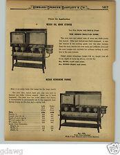 1929 PAPER AD 7 PG Nesco Kerosene Range Coleman Air-O-Gas Pressure Parts Repair