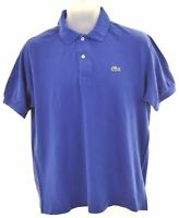 LACOSTE Mens Polo Shirt Size 5 Medium Blue Cotton  HD08