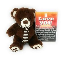 I Love You Teddy Bear - Brown Bear With Poem - Unisex Gift