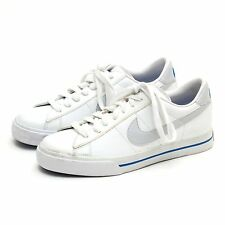 Nike Sweet Classic Leather Shoes Casual White/Blue NEW 318333 Size 7