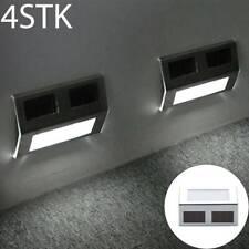 4X LED Solarleuchten Zaunleuchte Wandlampen Gartenleuchte Außen Treppen Lampe