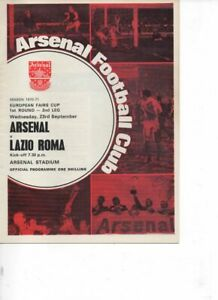 Arsenal v Lazio Roma 1970/71 Fairs Cup 1st Round 2nd Leg token removed
