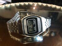 DT Calendar 1980er Vintage Damen Armbanduhr Digital LCD neue BAT