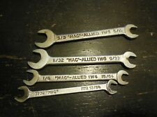 "4 Vintage MAC Tools Ignition Open End Wrenches 13/64"" to 3/8"""