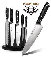 Knife Set Block 5 Pieces Kitchen Knife Set With Wood Magnetic Knife Holder Block