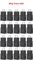20x Wall Charger Adaptive Fast Rapid Charging US Plug For Samsung LG Phones BLK