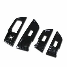 For AUDI New Q5 2018 Door Window Switch Plate Cover Trims Carbon Fiber
