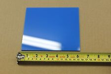 "BLUE ACRYLIC PLEXIGLASS LIGHT DIFFUSING PLASTIC SHEET .100""  X 6"" X 6"""
