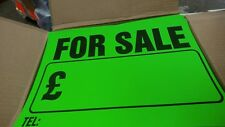 50 X CAR FOR SALE BRIGHT NEON SIGNS FREE P&P!!! £12.50!!!