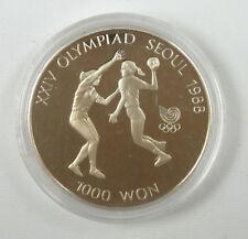 New listing Korea-south 1000 Won, 1987, 1988 Olympics Handball Unc