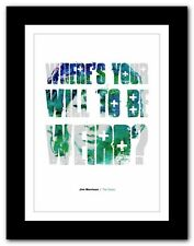 More details for jim morrison ❤ typography quote poster art limited edition print the doors #58