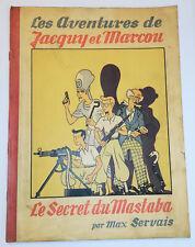 Le Secret du Mastaba - Max Servais - dédicacé ! - 1942 - style Hergé