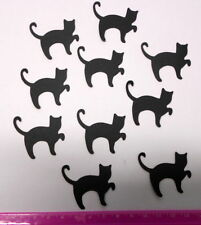 Die-cut BLACK CATS x  10 -  GREAT FOR SCRAPBOOKING/CARDMAKING