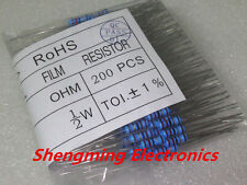 200PCS 10K ohm 1/2W Metal Film Resistor +/-1% 0.5W