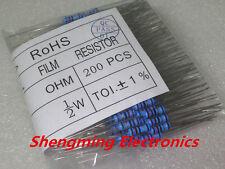 200PCS 51 ohm 1/2W Metal Film Resistor +/-1% 0.5W 51R