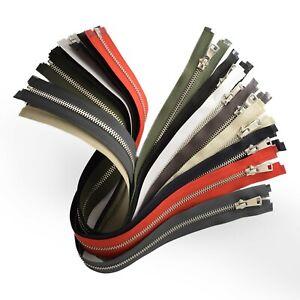 No.5 Metal Zip Nickel-Free Open & Closed End #5 Zipper Same Day Dispatch