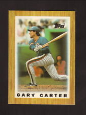 Gary Carter--1987 Topps Mini League Leaders Baseball Card--New York Mets