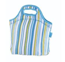 Tupperware Insulated Bag Lunch Box Stripes Neoprene Material Beach Pools Rare