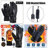 Winter Motorrad Motorrad beheizt Handschuh Warm USB elektrische wasserdichte