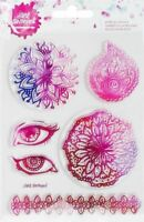 Jane Davenport Clear Acrylic Stamp Set Mandala  320815 NEW