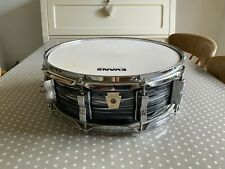 """Ludwig Black Oyster Pearl 14"""" X 5""""  Maple Fab Four Reissue SNARE DRUM Immaculate"""