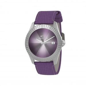 Womens Wristwatch CHRONOTECH SIGN RW0202 Leather Purple NEW