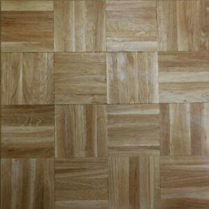 Solid Oak Parquet Mosaic Panels - Natural Grade - Unfinished 8 x 480 x 480mm